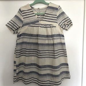 Boy +girl Dress blue white stripe